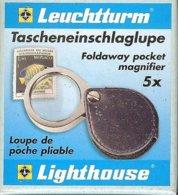 LEUCHTTURM - LOUPE De POCHE PLIABLE, Gr.5x - Pinces, Loupes Et Microscopes