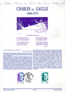 """"""" DE GAULLE 1890 - 1970 """" Sur Document Philatélique Officiel 1er Jour De 1990. Parfait état. N° YT 2634 - De Gaulle (General)"""