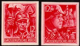 ~~~ Deutsches Reich 1945 - Sturmabteilung Ungezahnt - Mi. 909/910 U ** MNH - CV 85 Euro   ~~~ - Neufs