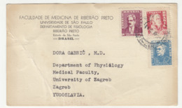 Brazil Sao Paulo University Postal Card Posted 1960 To Yugoslavia B191015 - Brazilië