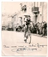 PHOTO AUTOGRAPHE / ANDRE PAYAN CYCLISME / COURSE DE VELO     B1072 - Ciclismo