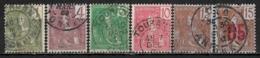1904,1912 INDOCHINA Set Of 6 USED STAMPS (Michel # 24,26-29,60I) CV €2.80 - Oblitérés