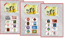 Indonesia Personalized Stamp Sheet 2019, First Logo To Twenty-fourth Logos. Scout Jamboree-Scout Mondial. MNH - Scouting