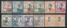 1922-1923 INDOCHINA Set Of 12 USED STAMPS (Michel # 102,103,106,107,109,110,112,115-118) CV €6.10 - Oblitérés