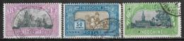1927 INDOCHINA Set Of 3 USED STAMPS (Michel # 140,142,144) CV €7.20 - Oblitérés