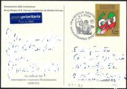 Italia/Italie/Italy: 60° Costituzione Italiana, 60th Italian Constitution, 60ème Constitution Italienne - Storia