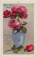 AL77 Greetings - Birthday, Vase With Roses - Birthday