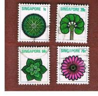 SINGAPORE   -  SG 212.220  -    1973  FLOWERS   -  USED ° - Singapore (1959-...)