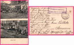 Lille 1915 - Gefangene Inder Der Citadelle - Indiens Captifs - Double Vues - Militaire - Oblit. R.I.  - 1916 - War 1914-18