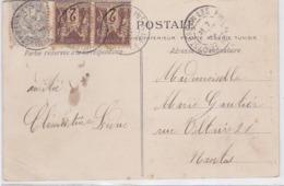 CP - COMPOS. OBL. St-BREVIN-les-PINS - 1904 - Marcophilie (Lettres)