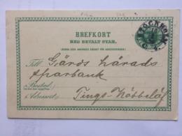 SWEDEN 1896 Brefkort - Stockholm Postmark - `Sveriges Bankmatrikel 1896` - Sweden