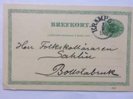SWEDEN 1909 Brefkort - Kramfors Postmark To Bollstabruck - Schweden