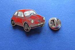 Pin's,voiture,Auto,FIAT,rouge - Fiat