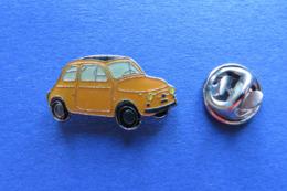 Pin's,voiture,Auto,FIAT,organge - Fiat