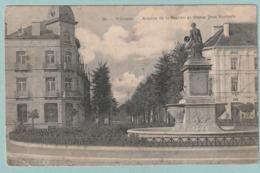 Vilvorde : Avenue De La Station Et Statue Jean Portaels - Vilvoorde