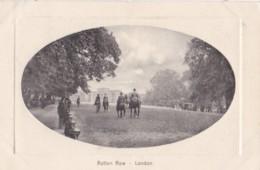 AP01 Rotten Row, London - 1911 Oval Framed Postcard - Altri