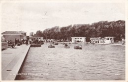 AP01 New Boating Pool, Worthing - 1940's Postcard - Worthing