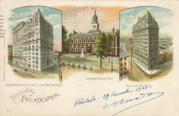 Pionneer Souvenir Of Philadelfia Litho Color Grimm Hamburg Girard Life Annuity And Trust , Harrison Building . P.U. 1901 - Philadelphia