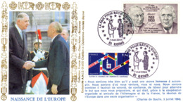""""""" DE GAULLE : NAISSANCE DE L'EUROPE / ETOILES """" Sur Enveloppe Commémorative De 2005. Parfait état. - De Gaulle (Generale)"""