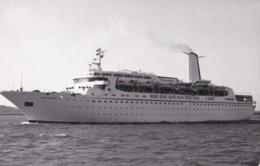 AQ67 Postcard Size Photograph - Cunard Adventurer, 1971, Cunard Line - Boats