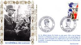 """"""" 60 ANS DE LA LIBERATION / EXPOSITION CHARLES DE GAULLE """" Sur Enveloppe 1er Jour De 2004. N° YT 3675. Parfait état. FDC - De Gaulle (General)"""