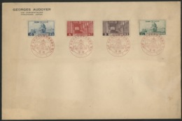 """Japan First Day Red Commemorative Cancellation """"completion Of Diet Building"""", 11.11.7 (7th Of Nov 1936). C68 To C71 - Covers & Documents"""