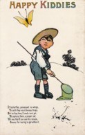 AS96 Children - Happy Kiddies - Boy With Butterfly & Net - Gruppi Di Bambini & Famiglie