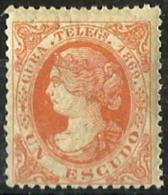 Cuba Española Telégrafos Nº 6 En Nuevo - Cuba (1874-1898)