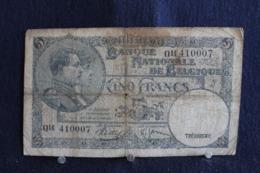 79 / Banque Nationale De Belgique - 5  Francs, 1938 -  Vyf Frank  Nationale Bank Van Belgie   /  N°014 4100079 - [ 2] 1831-... : Regno Del Belgio