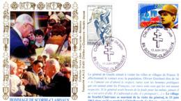 """"""" DE GAULLE : VISITE DE SCORBE-CLAIRVAUX """" Sur Enveloppe Commémorative De 2010. Parfait état. - De Gaulle (General)"""