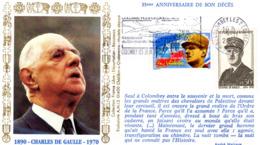 """"""" DE GAULLE : 35 ANS DE SON DECES """" Avec Flamme Sur Enveloppe Commémorative De 2005. Parfait état. - De Gaulle (General)"""