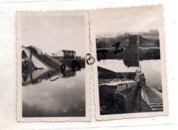 LOT De 2 PHOTOS - 93 - NEUILLY SUR MARNE - MILITARIA - Viaduc De La Maltournée Et Passerelle Dynamités En 1944 - - Krieg, Militär