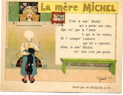 - PUB Alcool De Menthe Ricqlès - La Mère Michel  -20265- - Pubblicitari