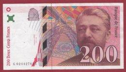 "200 Francs ""Eiffel"" 1996 --VF/SUP---ALPH -G- Numéro -- 024427625 - 1992-2000 Ultima Gama"