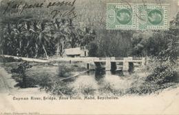 Cayman River, Bridge, Anse Etoile, , Mahé Edit  Ohashi   Stamped  Used Undivided Back - Seychelles