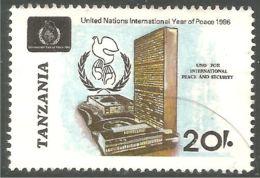 866 Tanzanie United Nations Unies Peace Paix Colombe Paloma Dove (TZN-130) - Tanzania (1964-...)