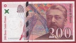 "200 Francs ""Eiffel"" 1996 --XF/SUP+---ALPH -S- Numéro -- 022323722 - 1992-2000 Ultima Gama"
