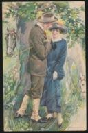 VERLIEFDEN ONDER BOOM  PAARDEN - Couples