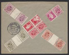 Timbre Publicitaire - PU16/18 En Bloc De 4 + PU38 Et KT4, 7 Et 10 Sur Lettre En R De Antwerpen (1931) Vers Prague. TB - Werbung