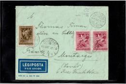 LCTN57/2 - HONGRIE LETTRE AVION OCTOBRE 1939 - Hongrie