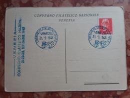 LUOGOTENENZA - Marcofilia - Convegno Filatelico Venezia 1945 + Spese Postali - 5. 1944-46 Luogotenenza & Umberto II