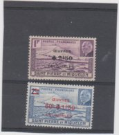 SAINT PIERRE ET MIQUELON 2 T Xx Série Compléte N° 312 313 - Oeuvres Colonialesl - St.Pierre & Miquelon