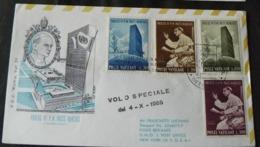 4 - 10 - 1965 _  F.D.C  DEL VOLO SPECIALE DEL PAPA NEW  YORK ...ALLE NAZIONI  UNITE - FDC
