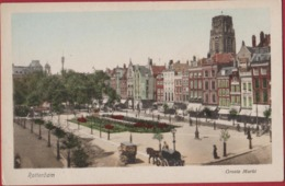 Rotterdam Grote Groote Markt Geanimeerd Paard En Koets Zuid-Holland Nederland Oude Ansichtkaart 1919 - Rotterdam
