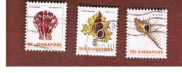SINGAPORE   -  SG 290.297  -    1977  SHELLS  -  USED ° - Singapore (1959-...)