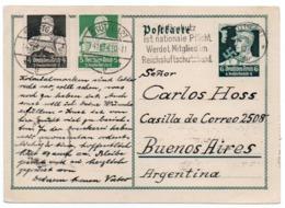 GERMANY THIRD REICH - POSTAL STATIONERY/ENTIER TO ARGENTINA 1934 - Deutschland