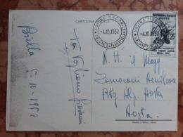 REPUBBLICA - Truppe Alpine A Biella 1952 + Spese Postali - 1946-60: Poststempel