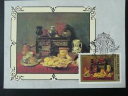Carte Maximum Card Peinture Painting Antonio De Pereda Pain Bread URSS (ref 86691) - Food