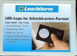 LEUCHTTURM - LOUPE LED Au FORMAT Carte Bancaire, Gr.3x - Pinze, Lenti D'ingrandimento E Microscopi