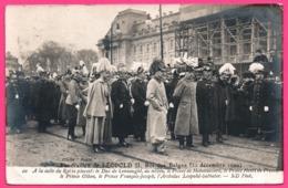 Cp Photo - Funérailles De Léopold II - Roi Des Belges 22 Déc 1909 - Duc De Connaught, Prince Hohenzollern - Chiché RAPID - Familias Reales